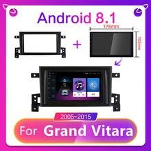 Cartaotao para suzuki grand vitara 3 rádio do carro reprodutor de vídeo multimídia navegação gps android 9.0 rádio do carro 2 din 7 2005 2015-