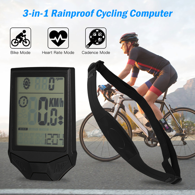 Lixada 3-in-1 Bike Computer Cycling Computers Bicycle Speedometer 4