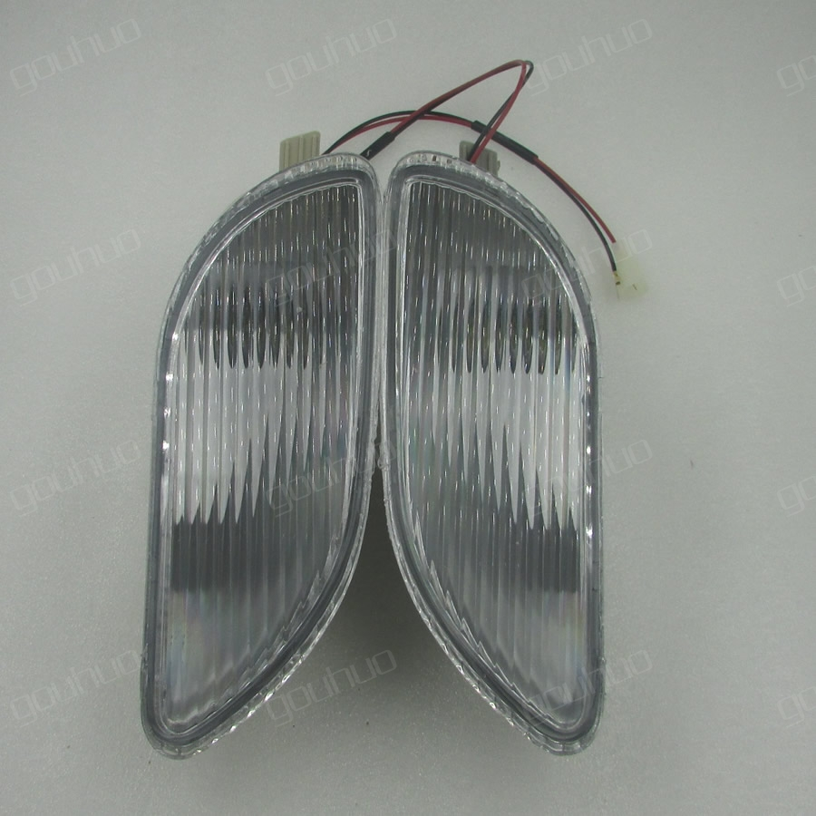 A Pair For BYD F3 Front Fog Lamp Decoration Lamp Bumper Bar Lamp With Line Fog Light
