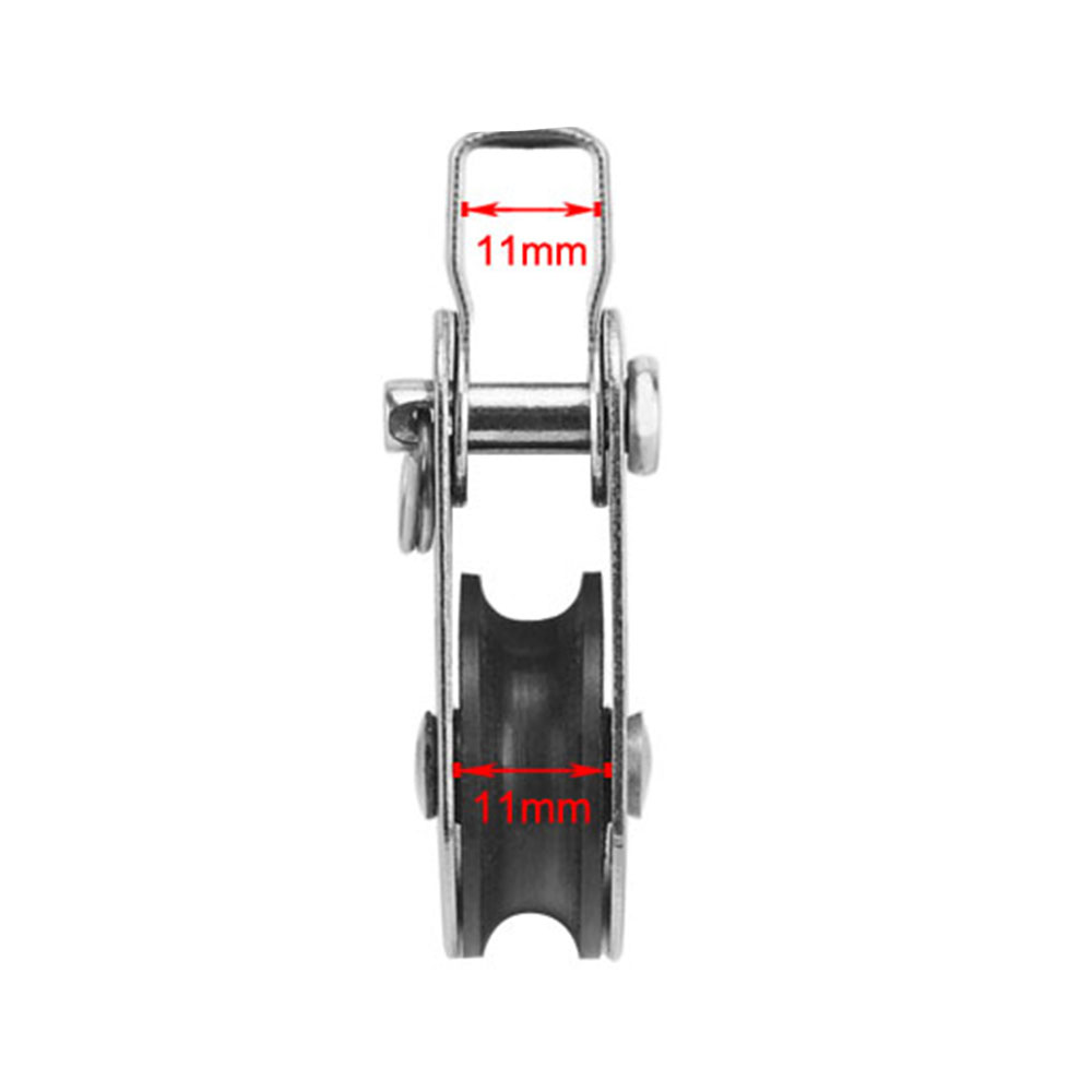 2PCS Sheave Pulley Block Pin Bracket Stainless Steel Nylon Other Vehicles Boat Accessories Parts Marine Hardware