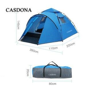 Image 3 - CASDONA תיירות אוהל גדול חלל כפול 3 4 אנשים עשר הידראולי אוטומטי עמיד למים 4 עונה חיצוני חוף פנאי אוהל