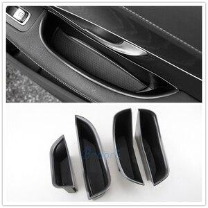 For Mercedes Benz New C GLC Class 2016 2017 2018 X253 C253 W205 C205 Car Organizer Door Armrest Storage Box Accessories