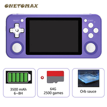 RG351P Handheld Game Players 3.5inch HD Screen Video Retro Game Console 64G Open Source
