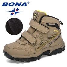 Bona 2020 новые дизайнерские высокие зимние ботинки для детей