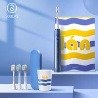 Cepillo de dientes eléctrico SOOCAS X5 Xiaomi Mijia cepillo de dientes sónico dientes USB recargable NFC Control inteligente cepillo de dientes automático