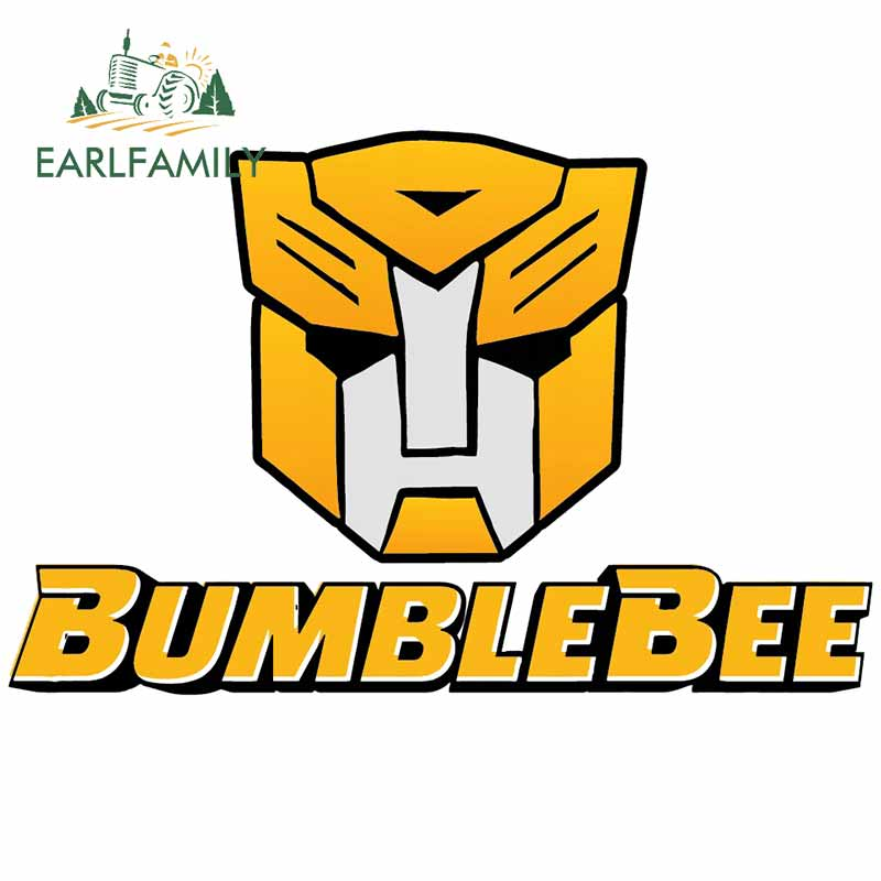 EARLFAMILY 13cm x 12.6cm for Bumblebee Transformers Car Sticker Scratch-proof Bumper Window Motorcycle Surfboard Vehicle Decal