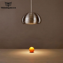 Nordic Art Design Aluminum Ripple Pendant Lights  Beerhouse Restaurant Pendant Lamp Dinning Room Bar Lighting Hanglamp Luminaria