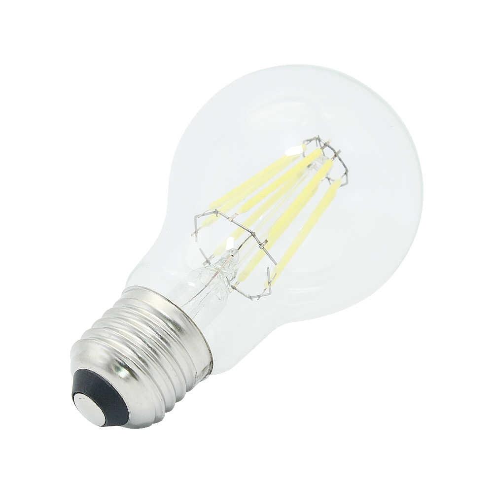 Новый Диммируемый E27 Светодиодный светильник с нитью накаливания, стеклянный корпус, лампочка, лампы 220 В, 4 Вт, 8 Вт, 12 Вт, 360 градусов, ретро светильник в виде свечи, Edison