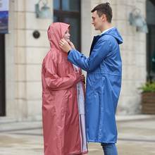 Raincoat Men Pants Hooded Cycling Adult Waterproof Women Long Tour with for Two-Colors