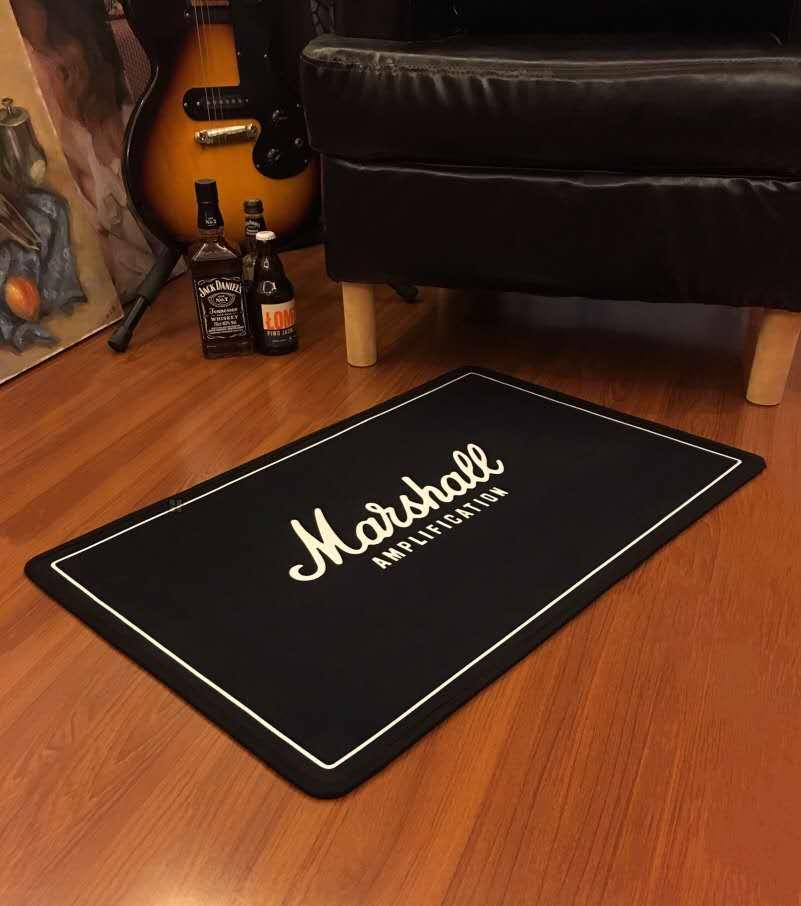 Cool Marshall Guitar Modern Printed Flannel Area Rug Printed Room Area Rug Floor Carpet For Living Room Bedroom Home Decorative