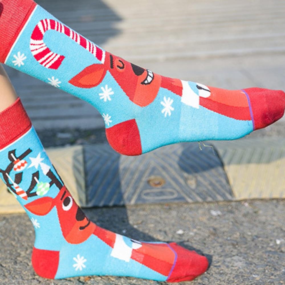 1PC Women Men Fashion Socks Creative Halloween Cartoon Pumpkin Long Socks  Couples AB Asymmetric Long Tube Cotton Socks