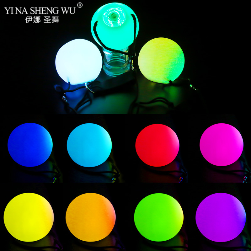2/3 Pcs Belly Dance Balls Led Rgb Glow Poi Thrown Balls Light Up For Level Hand Props Bellydance Stage Performance Accessories