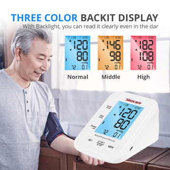 Sannuo 2021 Upgraded Blood Pressure Monitor Automatic BP Machine Heart Rate Pulse Monitor long Cuff Digital 3-color LCD Display 2