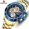 NAVIFORCE Новый стиль Модные мужские кварцевые часы водонепроницаемые военные армейские мужские часы цифровые деловые мужские часы Relogio Masculino