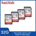 SanDisk SD-карта, класс 10, 16 ГБ, 32 ГБ, 64 ГБ, 128 ГБ