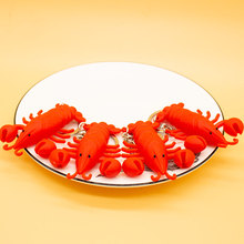 Creative simulation lobster key chains pendant Popular Key Ring ornament Cute gifts #LS1908052