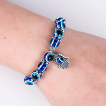 Europe and the United States retro unisex bracelet blue eyes Fatima hand men's lucky bracelet bracelet цена 2017