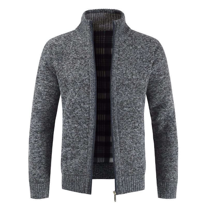 ZOGAA Men Thick Fashion Business Casual Sweater Cardigan Men Brand Slim Fit Knitwear Outwear Warm Winter Sweater Jumper Men
