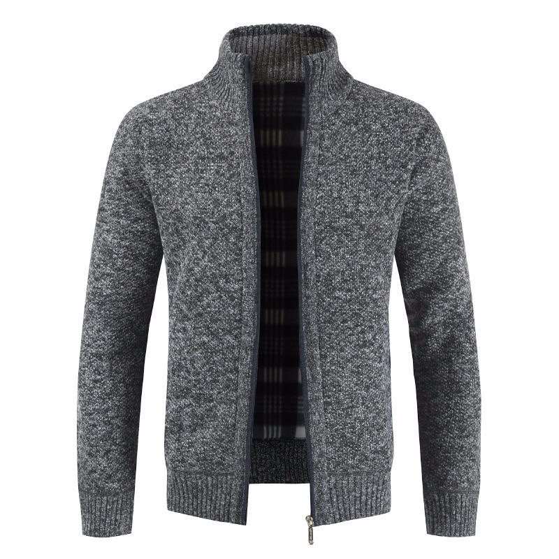 ZOGAA Men Thick Fashion Business Casual Sweater Cardigan Men Brand Slim Fit Knitwear Outwear Warm Winter Sweater Jumper Men