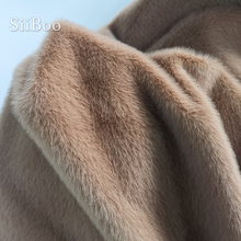 Siiboo 스트레치 솔리드 컬러 1cm 인공 플러시 밍크 모피 원단 코스프레 사진 배경 소품 fourrure SP5788