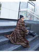 Imported whole mink coat women's long section slim over the knees young fashion mink fur coat autumn and winter