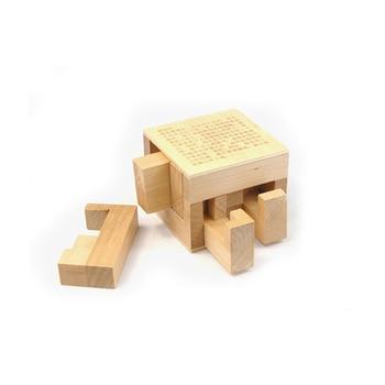 Children adult wooden puzzle unlock toy Kongming lock Luban lock hidden rules puzzle assembling box unlock game