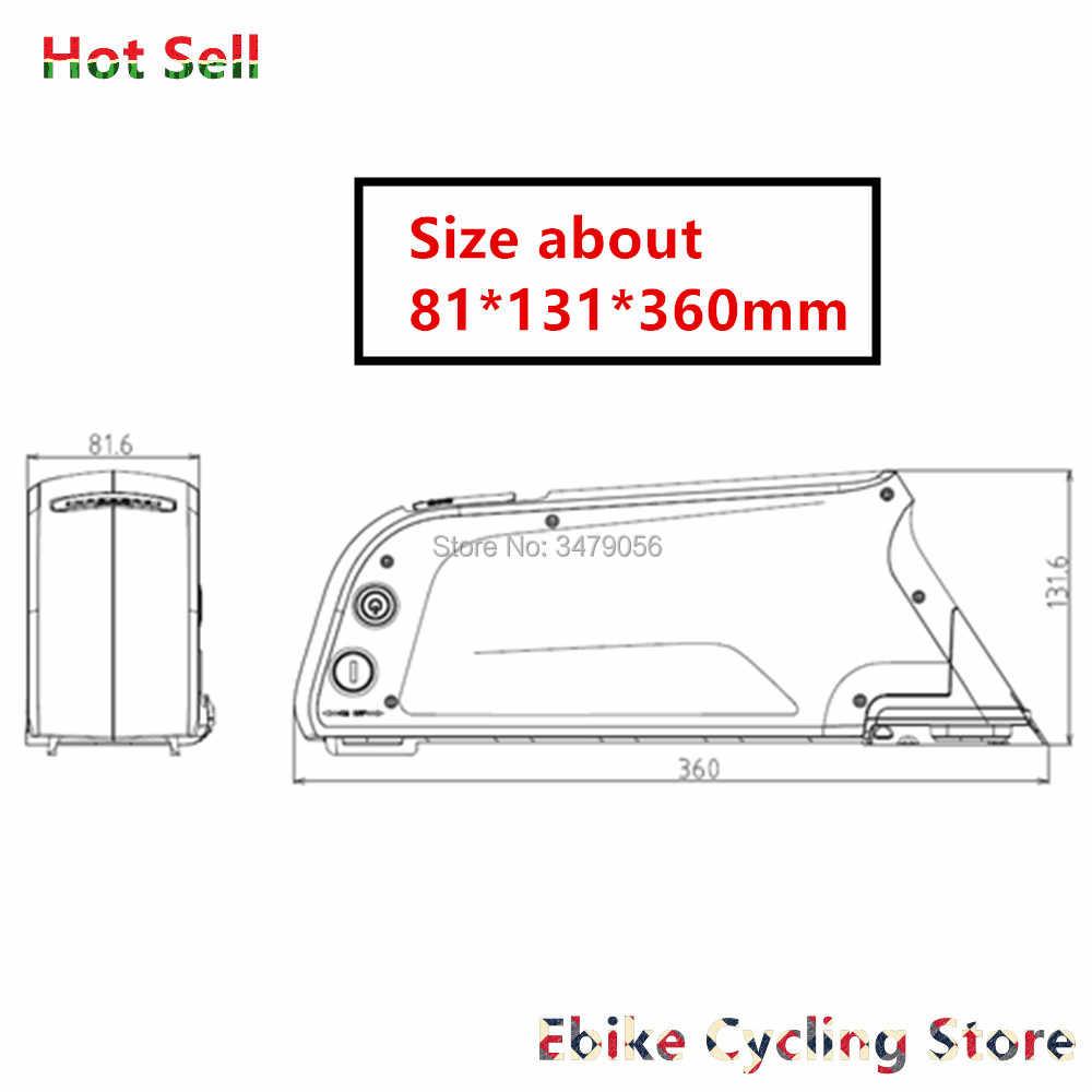 V/48 v/52 V 14ah 20A 30A atlas delfín tubo e-Batería de bicicleta con puerto USB y cargador para 350w 500w 750w 1000w Ebike baterías