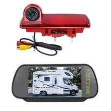 PZ463 Car Waterproof RV Brake Light 170 Degree View Camera + 7 inch Rearview Monitor for 2014 Opel Vivaro / 2014 Renault Trafic