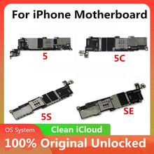 100% Original Mainboard For Official iPhone 5C 5 5S SEMotherboard Unlocked Good Working Logic Board Full Function IOS Installed