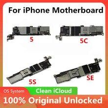 100% orijinal anakart resmi iPhone 5C 5 5S SEMotherboard Unlocked iyi çalışma mantık kurulu tam fonksiyonu IOS yüklü
