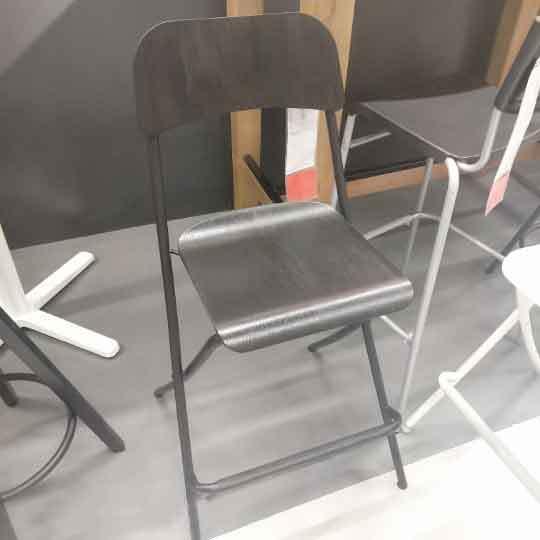Backrest Bar Stool  Chair High  Seat Height 63 Cm Foldable