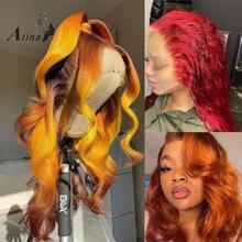 Парик из натуральных волос на сетке, 250% плотность, HD, прозрачный, 99J, красный, бордовый, Remy, бразильский парик для чернокожих женщин