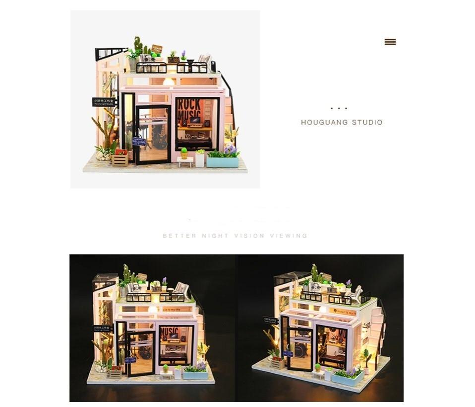 H66c186a4634340ab9501621e6b498f0d3 - Robotime - DIY Models, DIY Miniature Houses, 3d Wooden Puzzle
