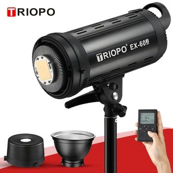 Triopo LED Video Light EX-60W 5600K White Version Video Light Continuous Light Bowens Mount for Studio Video Recording VS SL-60W