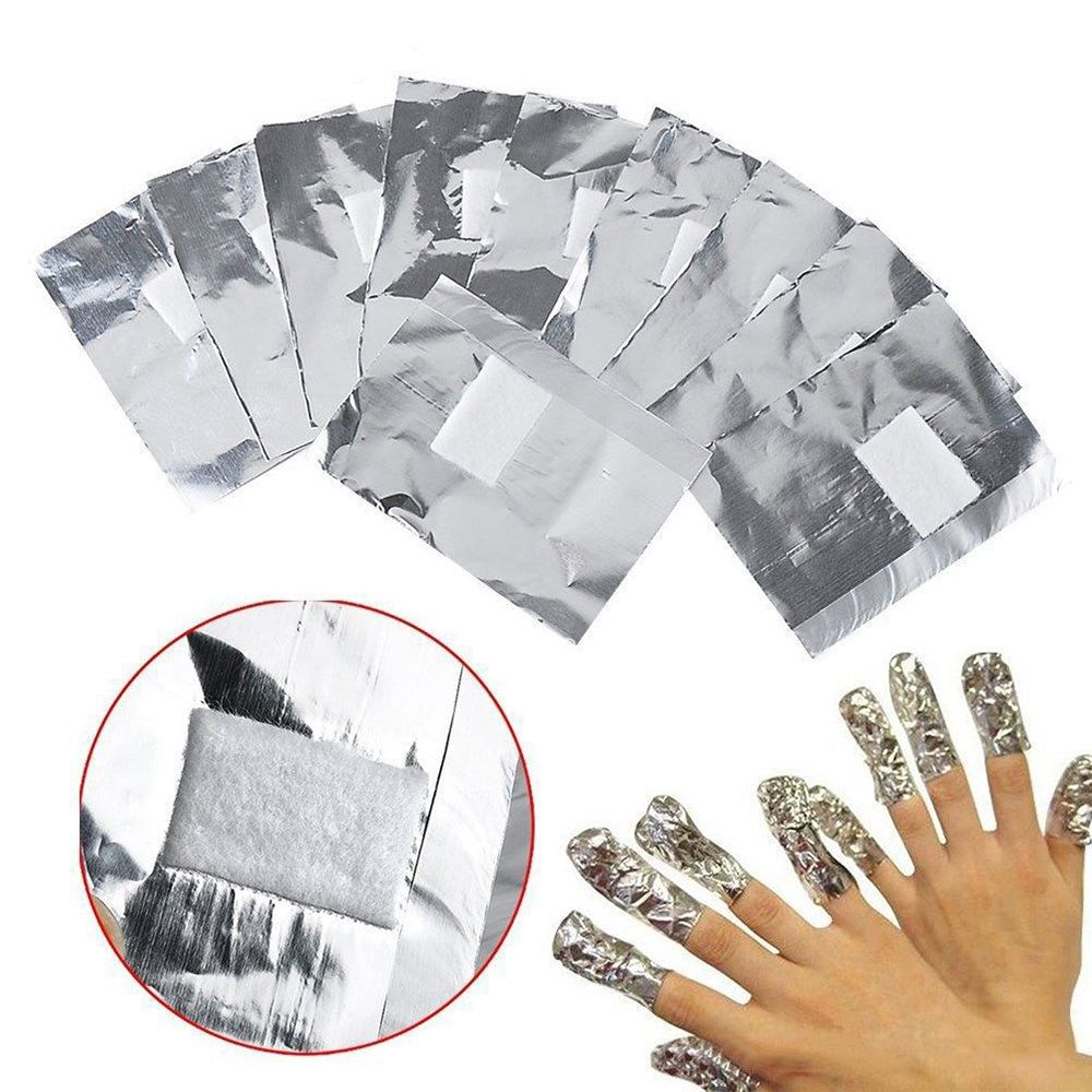 50/100pcs Nail Polish Remover Aluminium Foil Wraps Soft Nail Removal Cotton Manicure Accessories Makeup Tools Nail Art Tools