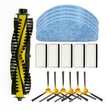 Ofertas superiores escova lateral hepa filtro esfregão panos rolo escova para ordensvor x500 robô aspirador de pó acessórios rolo escova para nea