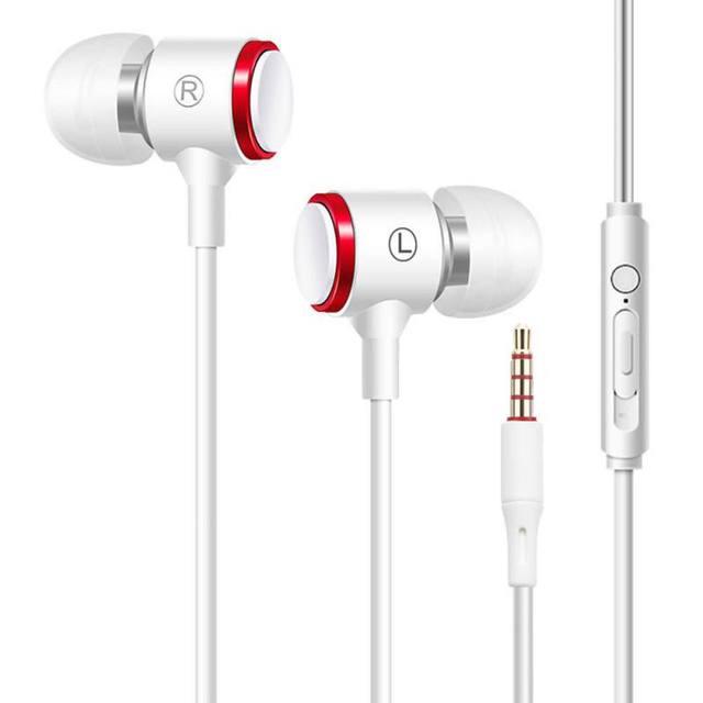 หูฟังแบบมีสาย3.5มม.หูฟังโลหะHIFIชุดหูฟังสเตอริโอกีฬาหูฟังพร้อมไมโครโฟนสำหรับXiaomi Samsung Huawei iphone 12