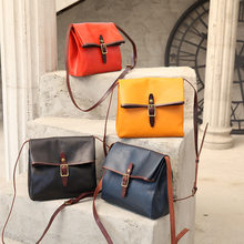 2020 new trend texture female bag hit color vegetable tanned leather top layer cowhide fashion simple messenger bag men bag(China)