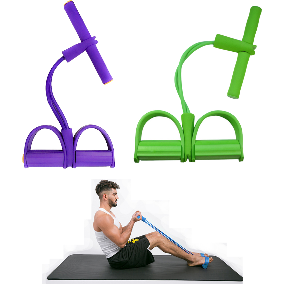 Elastic Pull Ropes Exerciser Rower Belly Resistance Band Home Gym Sport Training Elastic Bands For Fitness VIP Dropshipping