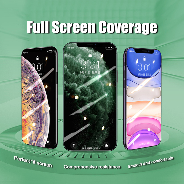 5000D Full Curved Glass on For iPhone SE 2020 11 Pro XS MAX XR X Screen Protector Tempered Glass For iPhone 7 8 6 6s Plus Film Mobile Phone Accessories Smart Phones & Tablets Smartphones