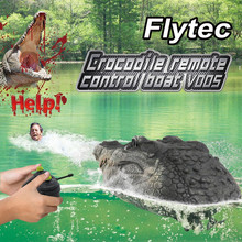 HINST Funny novelty toys Flytec V005 RC Boat 2.4G Simulation Crocodile Head RC Boat Water Racing Remote Control Toys#7