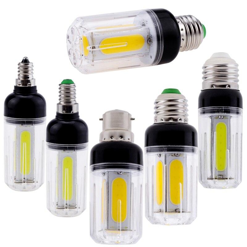COB LED Corn Bulb E27 E26 E12 E14 B22 60W 80W Incandescent Lamp Cool White Light