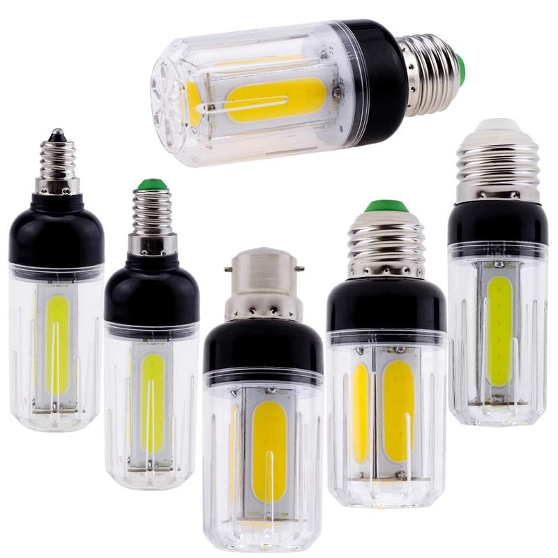 LED Cob Corn Bulb 12W 16W E27 E12 E26 E14 B22 COB White Light 60W 80W Incandescent Lamp For Home Chandelier Decoration Ampoule