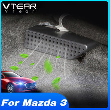 Vtear For Mazda 3 BP 2020 2021 Interior Accessories Car Seat Floor Air Outlet Protective Cover Seat Bottom Anti-Blocking Cap