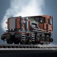 Crianças brinquedos 414 pces moc classe técnica locomotiva trem modular blocos de construção transporte veículos bloco modelo
