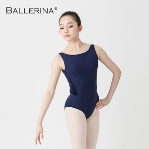 Image 3 - Femmes Ballet danse justaucorps Adulto dos ouvert danse costume yoga gymnastique sans manches noir justaucorps ballerine 2505