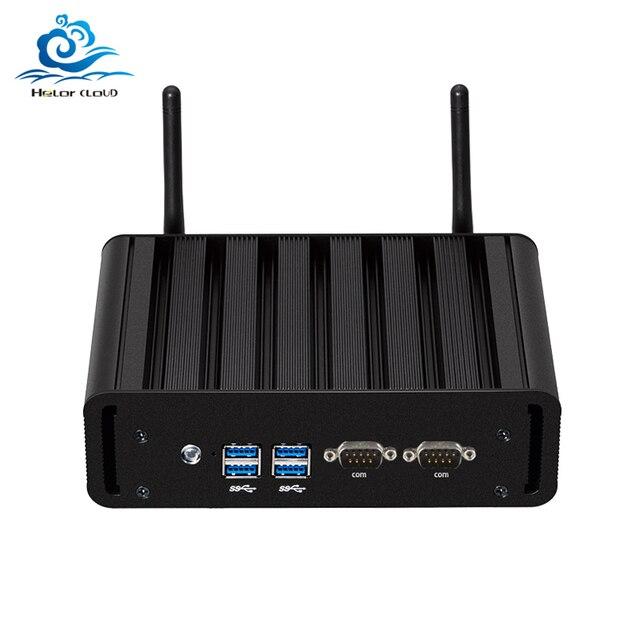 Mini Computer Dual LAN Mini PC 2 * COM Core i7 5500U i3 5005U i5 5200U Finestre 10 2 * porte seriali WIFI minipc