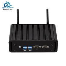 Mini ordinateur double LAN Mini PC 2 * COM Core i7 5500U i3 5005U i5 5200U Windows 10 2 * ports série WIFI minipc