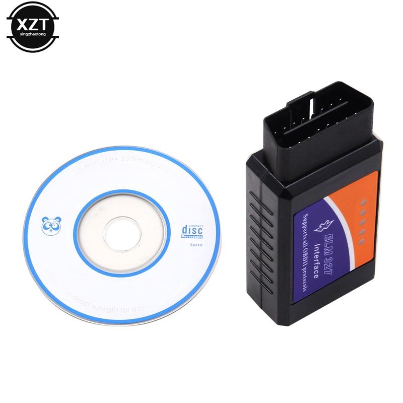 Bluetooth/Wifi OBD2 V1.5 Mini Elm 327 Bluetooth PIC18F25K80 Chip Auto herramienta de diagnóstico OBDII para Android/IOS/Windows Nuevo V1.5 Elm327 adaptador Bluetooth Obd2 Elm 327 V 1,5 escáner de diagnóstico automático para Android Elm-327 Obd 2 ii herramienta de diagnóstico de coche