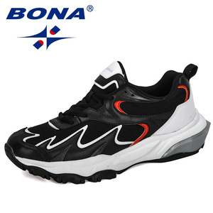 Image 5 - BONA 2019 New Popular Trendy Sneakers Men Shoes Casual Outdoor Comfortable Mesh Microfiber Breathable Man Footwear Non Slip